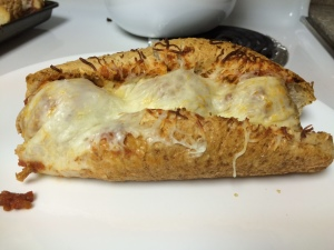 Cheese-Stuffed Meatball Sub, broiled to perfection!
