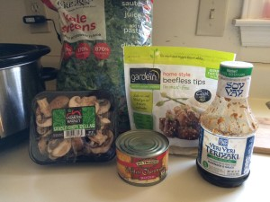 Crock Pot Vegetarian Beef Stir Fry items