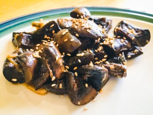 With a change of sauce and topping, these mushrooms went from the ground to being great!