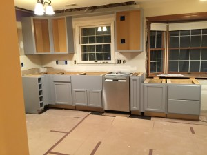The cabinets are in-- but still TOPLESS!