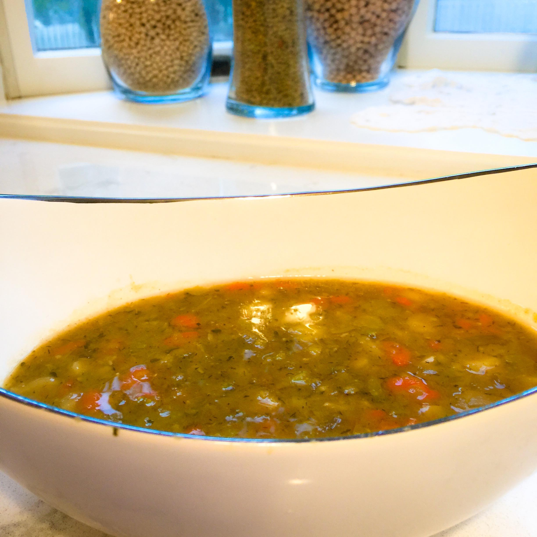 Crock Pot Split Pea Soup (Vegetarian)